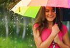 woman rain