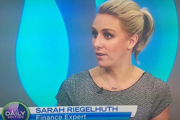 Sarah on TV