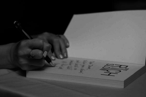 Sarah book signing